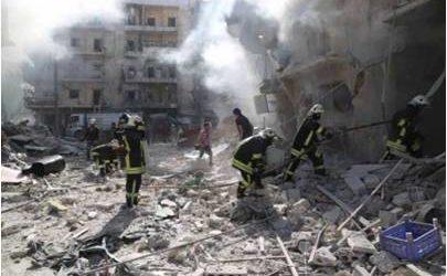 """مجزرة لطائرات """"التحالف الدولي"""" بحلب تودي بحياة 60 شخصا"""