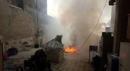 مواجهات عنيفة في الأقصى واندلاع حريق جنوب المصلى القبلي