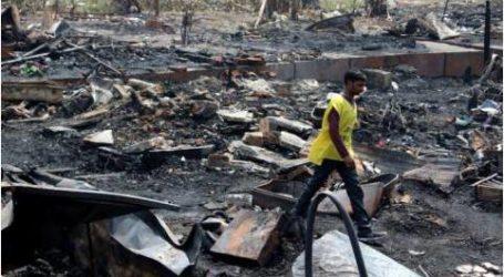 حريق يلتهم مخيماً للاجئين الروهينغيا في الهند