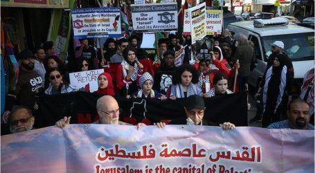 نيويورك..مظاهرة احتجاجية ضد المجزرة الإسرائيلية بغزة ونقل السفارة الأمريكية للقدس