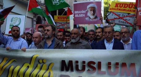 مسيرة بإسطنبول لإحياء الذكرى الثامنة للاعتداء الإسرائيلي على مافي مرمرة