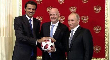 روسيا تسلم راية استضافة كأس العالم إلى قطر