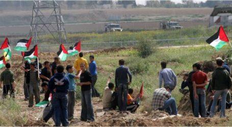 إصابة 35 مواطنا فلسطينيا خلال مواجهات مع الاحتلال على حدود قطاع غزة