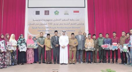 إندونيسيا:8000  مشروع إنتاجي من قطر الخيرية لأيتام وأسر إندونيسيا