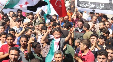 إدلب.. عشرات الآلاف يتظاهرون ضد النظام السوري وداعميه