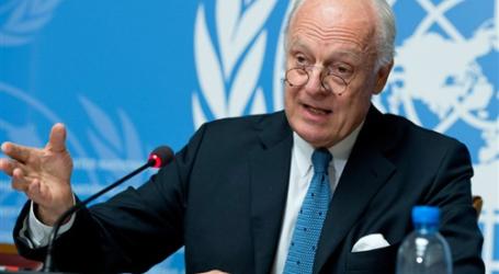 دول عربية تناقش مع دي ميستورا الوضع بسوريا