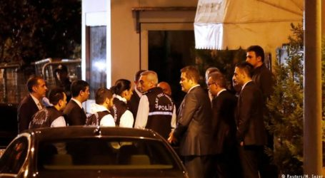 فرق البحث الجنائي التركية تجمع عينات من القنصلية السعودية