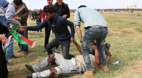 115 إصابة بقمع قوات الاحتلال مسيرة العودة شرقي القطاع