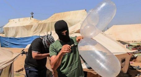 8 حرائق بمستوطنات غلاف غزة بفعل بالونات حارقة