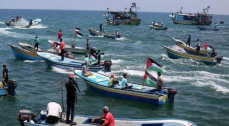 إصابات بقمع الاحتلال الحراك البحري الـ16 شمالي قطاع غزة