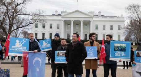 وقفة أمام البيت الأبيض تندد بانتهاكات الصين لحقوق الأويغور