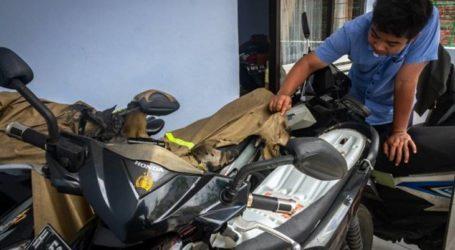 دوريات في سيمارانج للحد من الهجمات الإرهابية المتعلقة بحرق السيارات