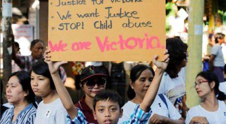 المئات يتظاهرون ضد شرطة ميانمار دعما لقضية اغتصاب طفلة
