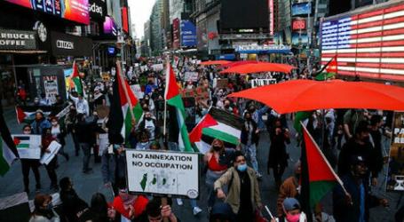 نيويورك.. مظاهرة أمام قنصلية إسرائيل تضامنًا مع الفلسطينيين