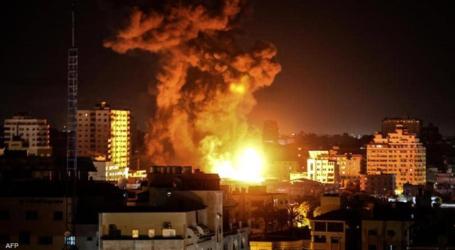 الطيران الحربي الإسرائيلي يقصف مواقع عديدة في غزة